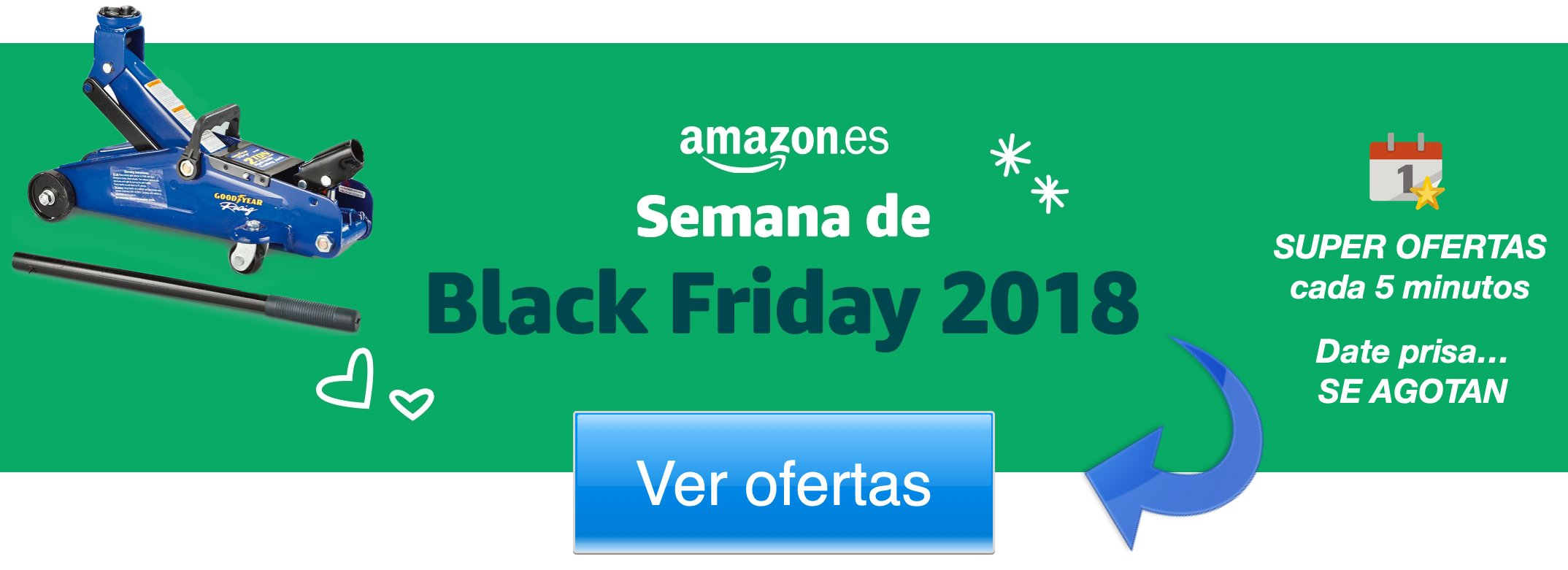 Banner amazon black friday Gato hidraulico camion
